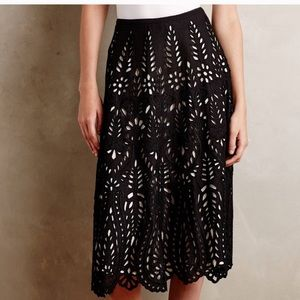 Anthropologie KAS New York Delony eyelet skirt